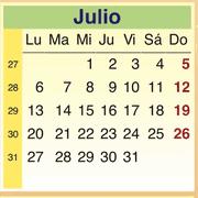 Calendario Julio 2009