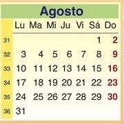 Calendario Agosto 2009