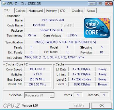 Intel Core i5 760 overclock e preço
