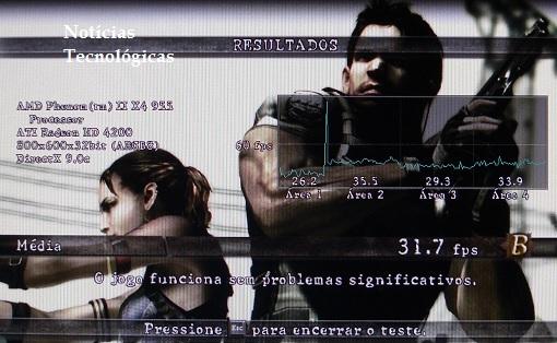 Benchmarck Resident Evil 5 - Motherboard ECS MCP61M M3