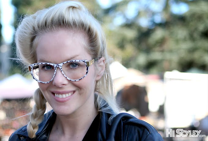 Unidentified big white glasses