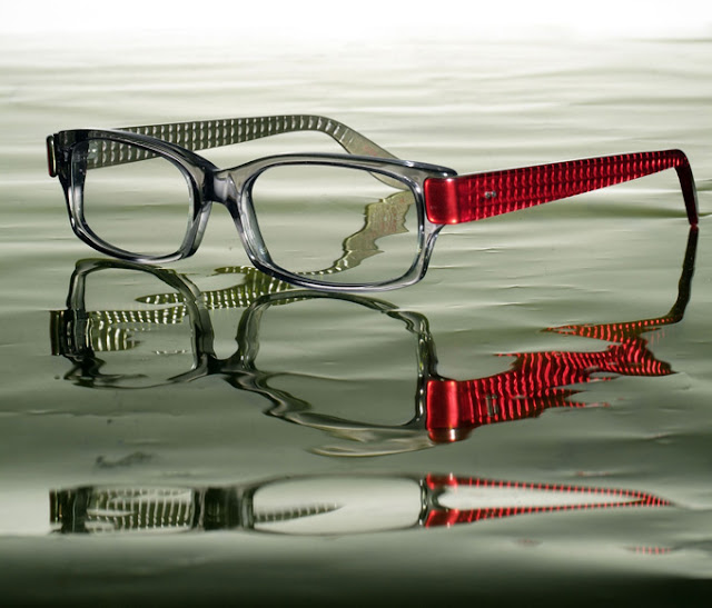 Kirk Originals Sculpture glasses - Otis grey and scarlet