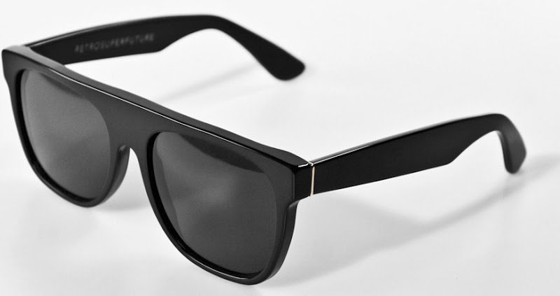 Retro Super Future Flat Top black sunglasses
