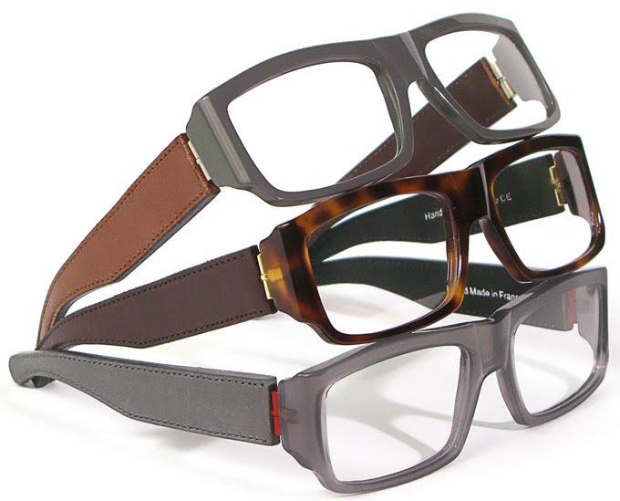 Histoire de Voir leather eyewear