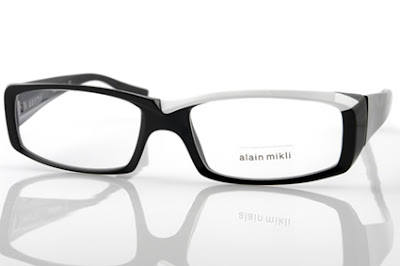 Alain Mikli AO715 black and white glasses