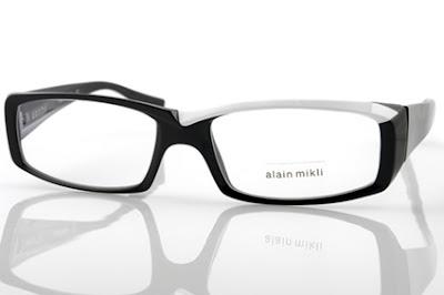 Alain Mikli AO715 black and white glasses