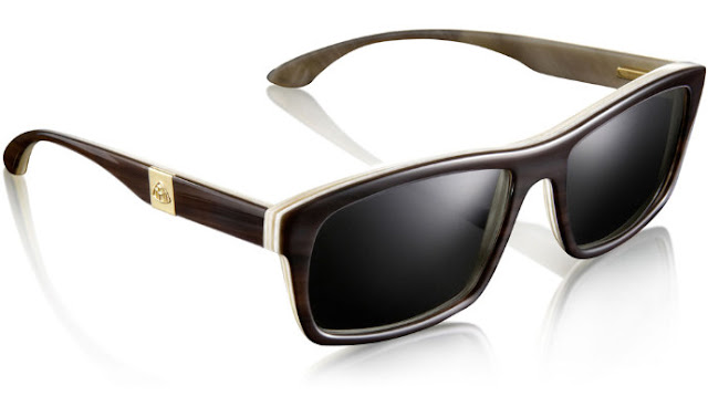 Maybach Eyewear: horn, wood, leather and gold luxury eyewear... titanium too!