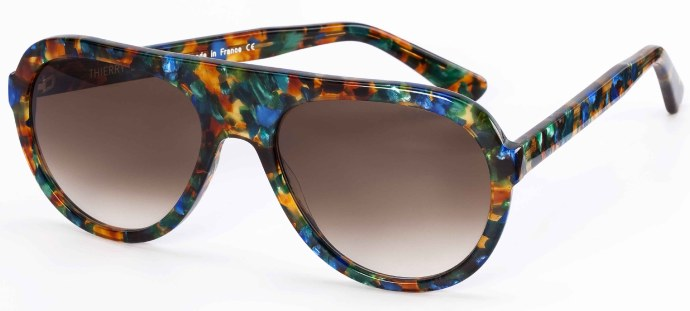 Thierry Lasry 2011 sunglasses using vintage Mazzucchelli acetate: Sleazy