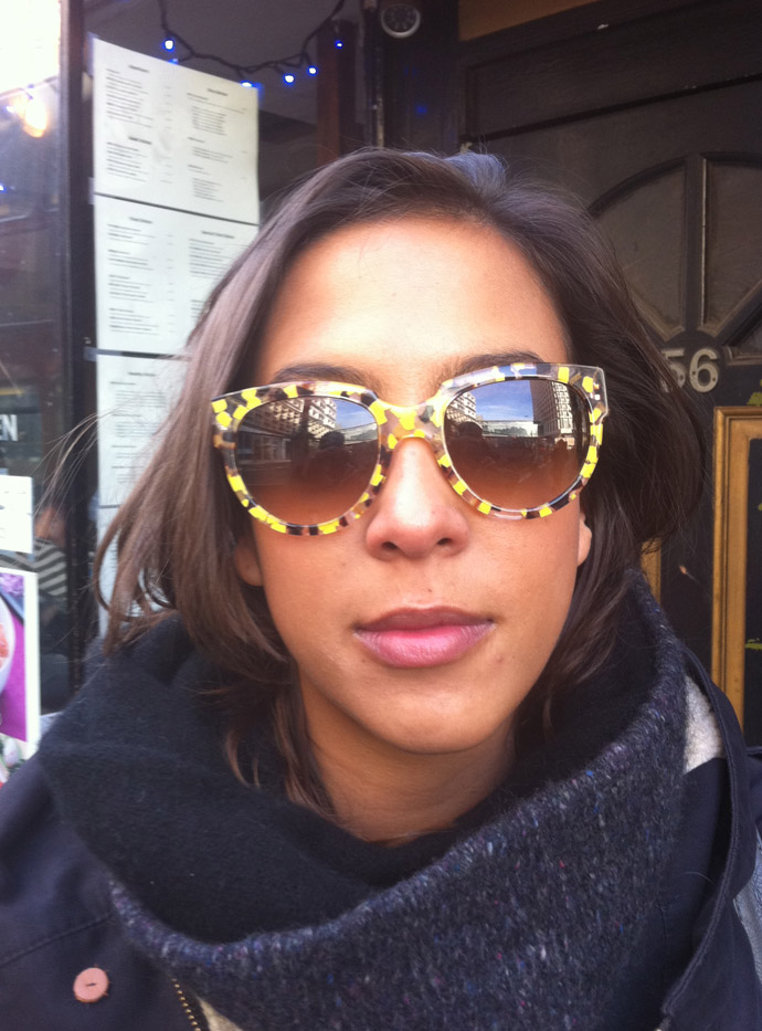 Thierry Lasry sunglasses on a cold sunny Soho morning