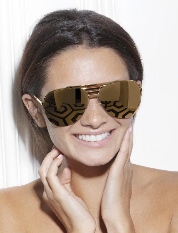 Victoria Beckham Eyewear SS 2011 - VB0076 Grill Aviator limited edition 18ct gold