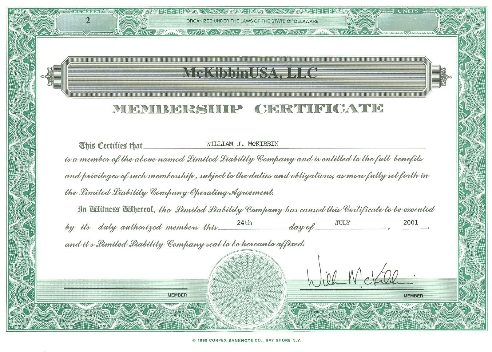 membership certificate template .