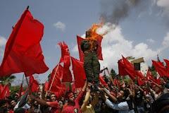 تظاهرات خلق فلسطین علیه قوای متجاوز صهیونیستی در غزه  اول ماه ماه مه