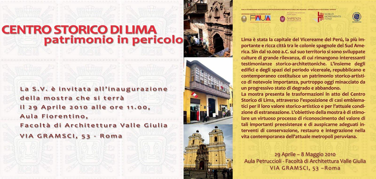 Bit cora arquitectura peruana centro storico di lima for Studi di architettura roma