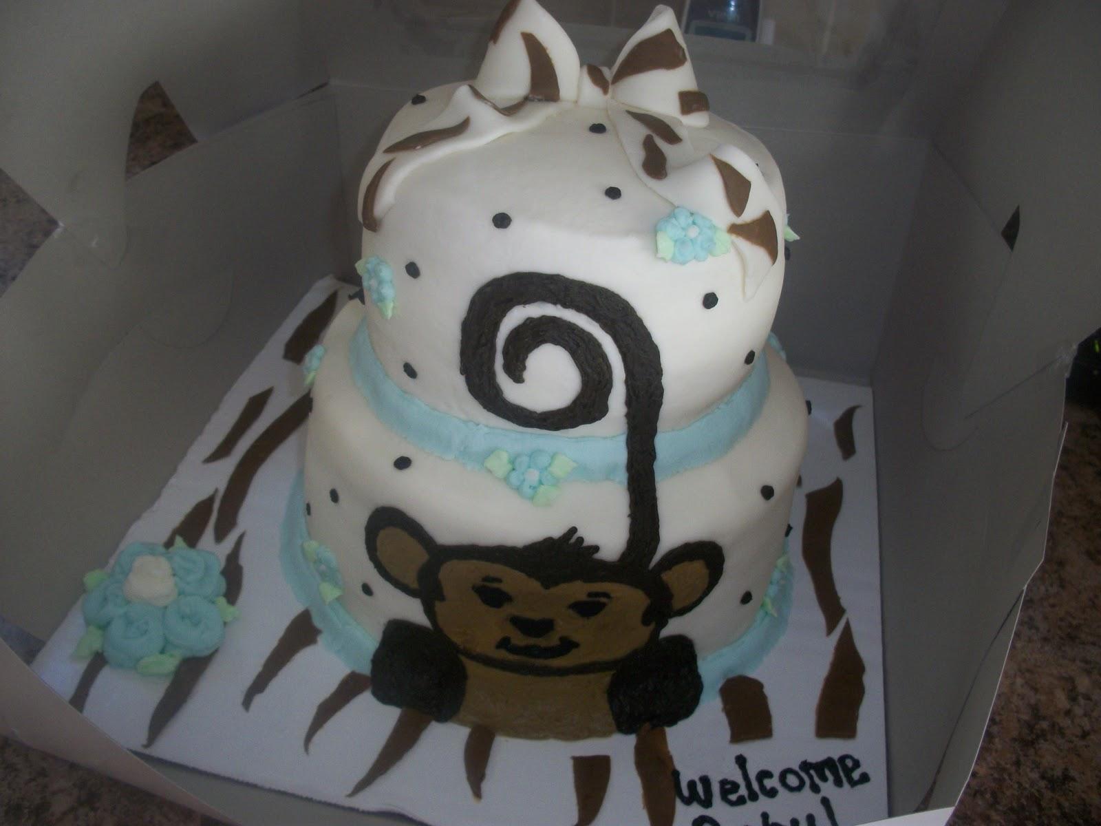 sugar girl 39 s cake shoppe monkey baby shower cake