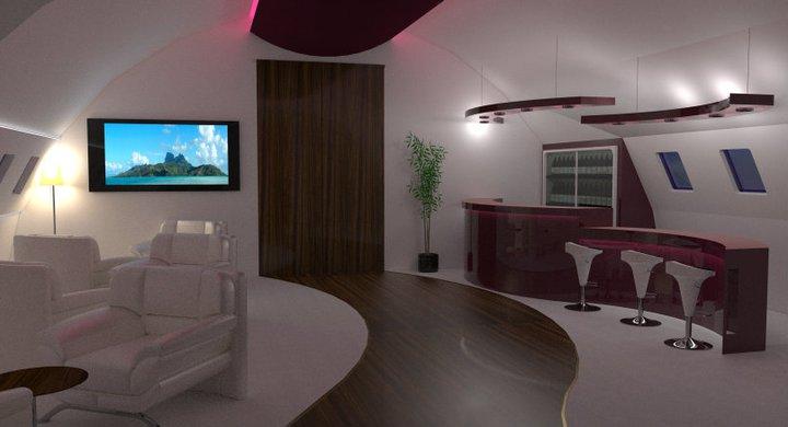 3d architecture and rendering design interieur d 39 un 787 for Interieur jet prive