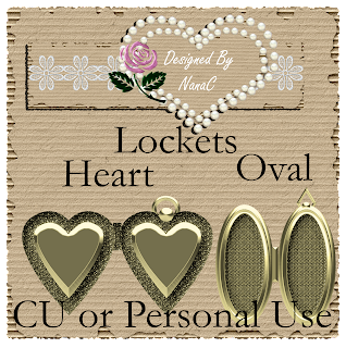 CU or Personal Use Lockets BY Nana found by me Locket+Preview