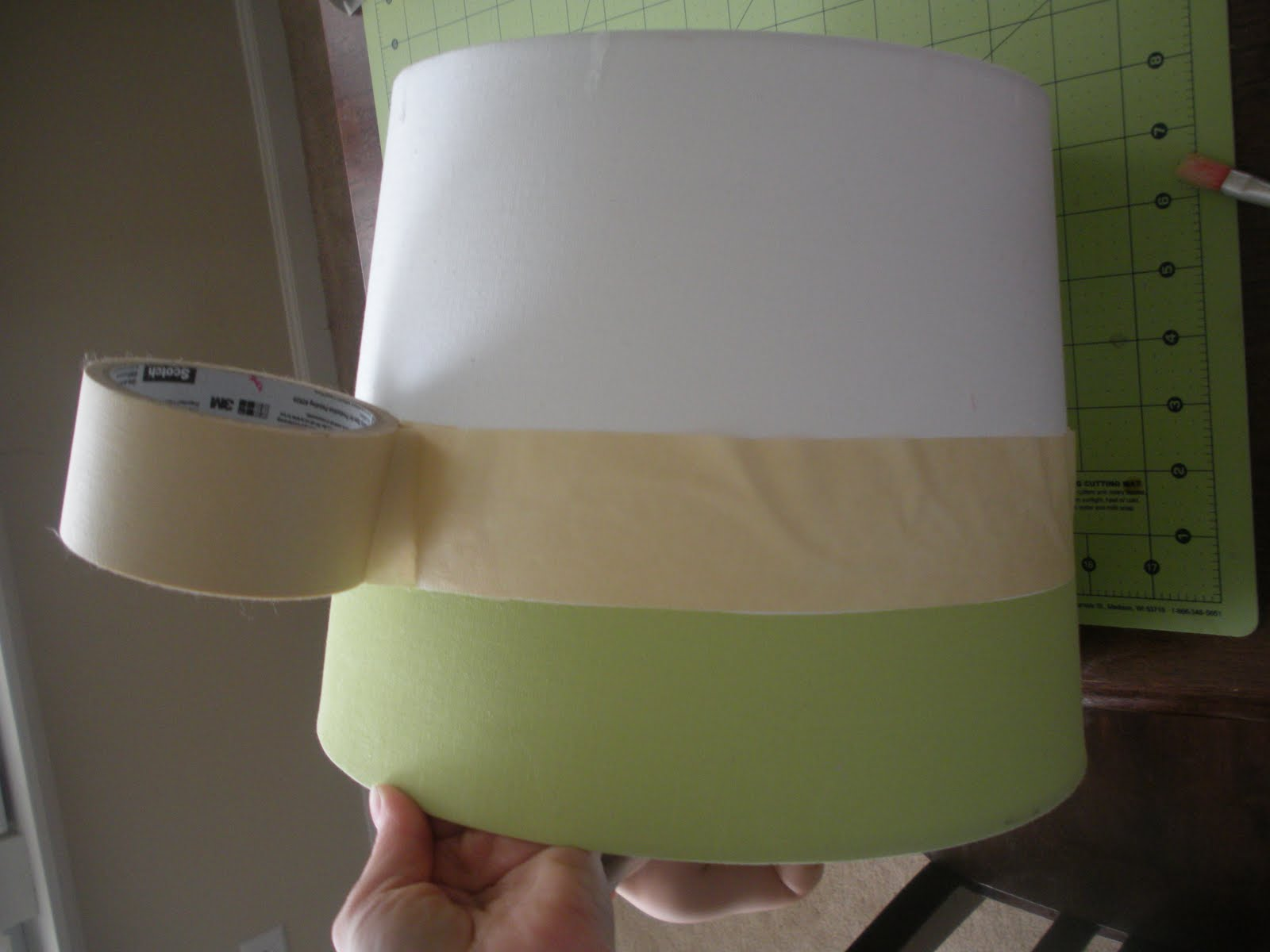 sew totally smitten lamp shade painting. Black Bedroom Furniture Sets. Home Design Ideas