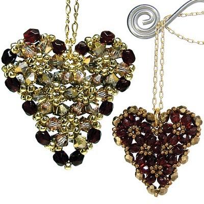 Beading Pattern: Pink Ribbon Puffy Heart - Jewelry Making and