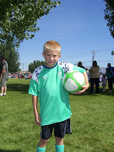 ty all dressed and ready to play some soccer!