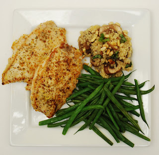 Italian Chicken Cutlet with Pine Nut Basil Quinoa | Cooking.In.College