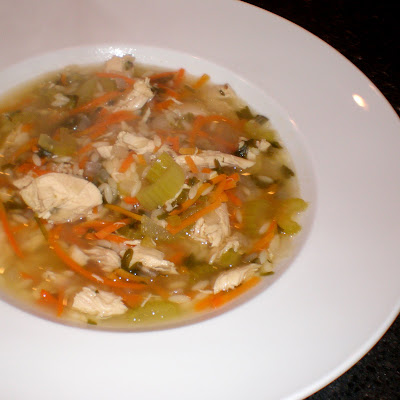 Authentic Suburban Gourmet: Roasted Chicken Soup with Riso Pasta