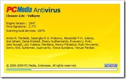 PC Media Antivirus (PCMAV) 2.0c - Valkyrie