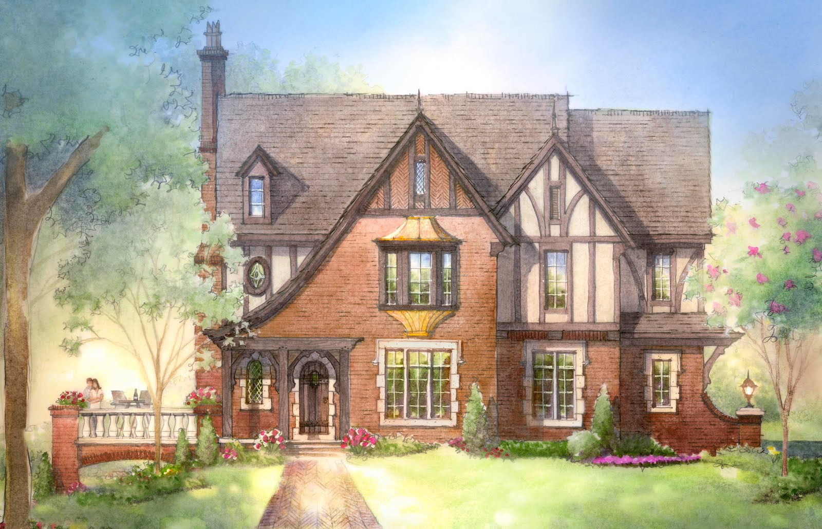 english manor home plans