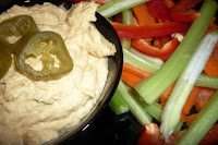 ... Hummus with vegetable Crudites and Mozzarella Cheese Sandwich