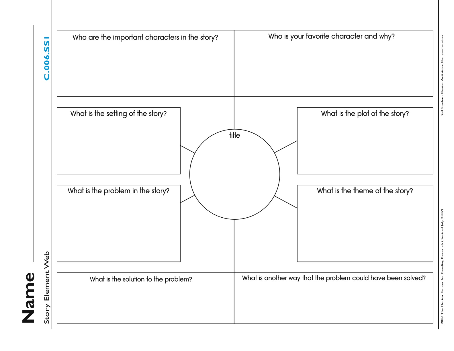 Story Elements Graphic Organizer Story elements-