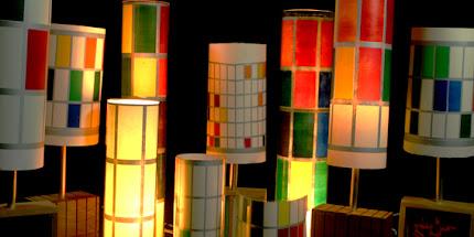 Lámparas en tienda MUSAC
