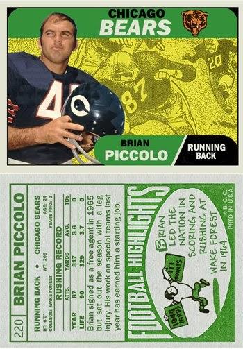 Bob Lemkes Blog Newest Custom Card 1968 Brian Piccolo