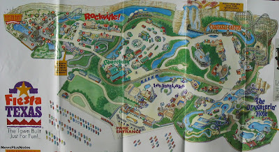 Fiesta Texas Map Images