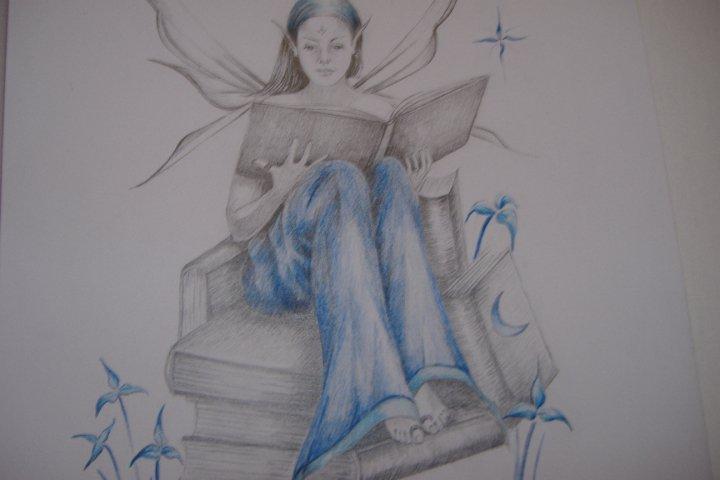 Dibujos de hadas y duendes a lápiz - Imagui