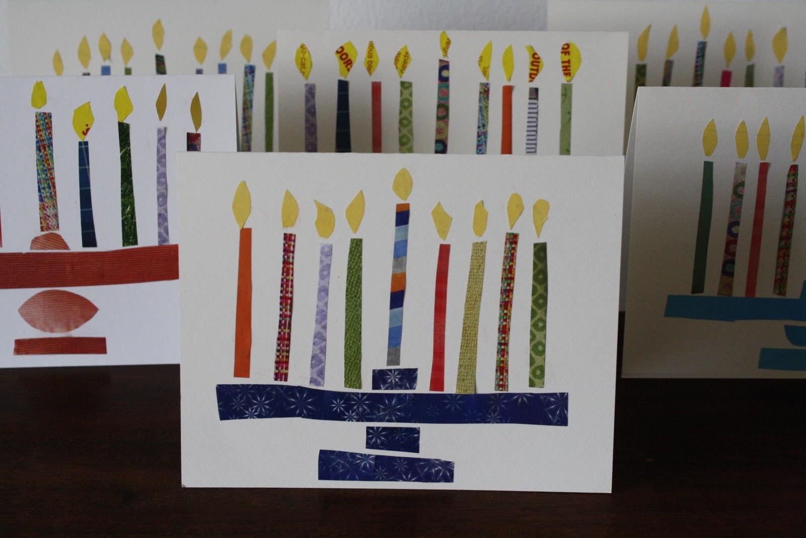 Hanukkah Greetings Lighted Menorah Happy Hanukkah Greeting Card