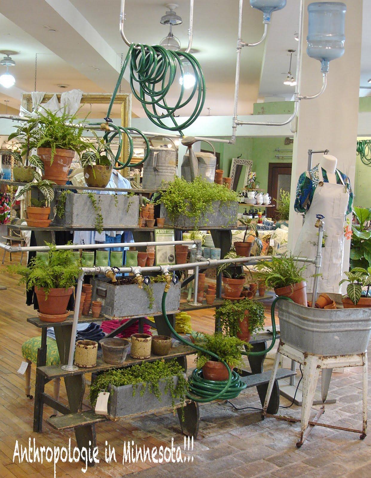 Chippy shabby anthropologie display ideas for Garden display ideas