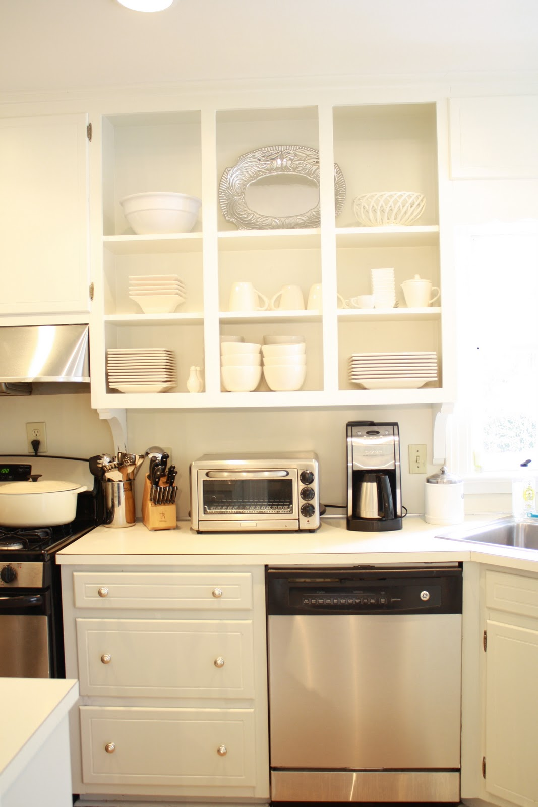 Alpine road kitchen before and after for Alabaster kitchen cabinets