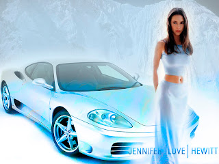 Hot Car and Girls  Celebrity Jennifer Love Hewitt
