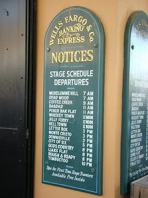 Stagecoach Schedule