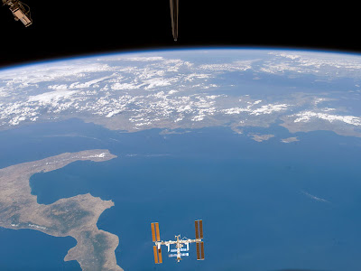 ISS Above Ionian Sea
