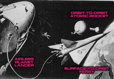 Rocketpunk era orbital scene