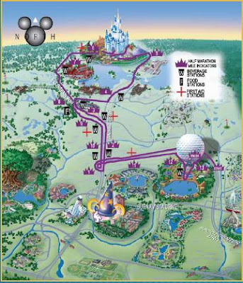 Disney World Map 2011. The course Map is pictured