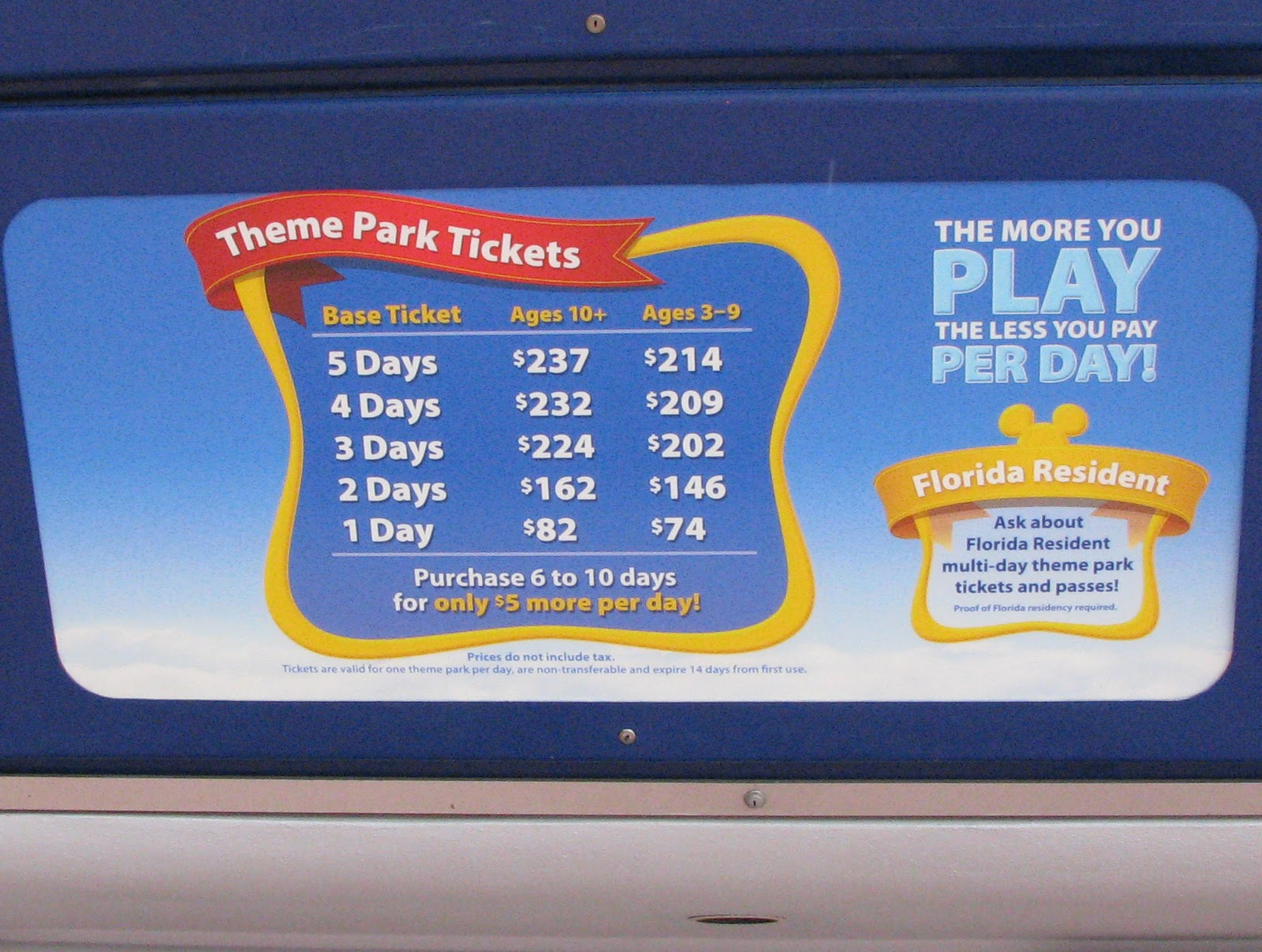 disney's theme park tickets Walt Disney himself once said,