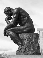 The thinker was probably a gay mormon boy brooding over his existence in this world