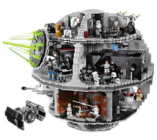 A Death Star made from Legos, this took some effort, but our star wars Lego fights were epic!
