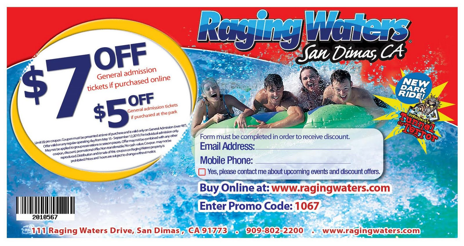 Magic waters discount coupons