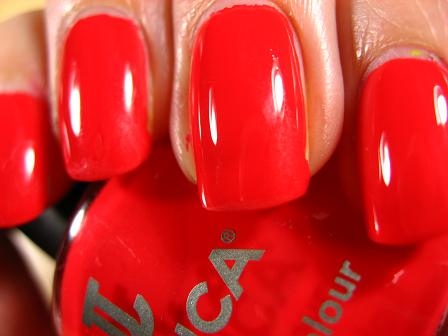 Right on the Nail: Jessica Cosmetics Electric Collection: Shock Me Red