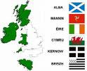 The currently recognised Celtic nations
