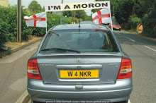 The English 'Blood Banner' fly from this car
