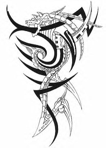 tribal lizard tattoo. pictures Tribal Tattoos by