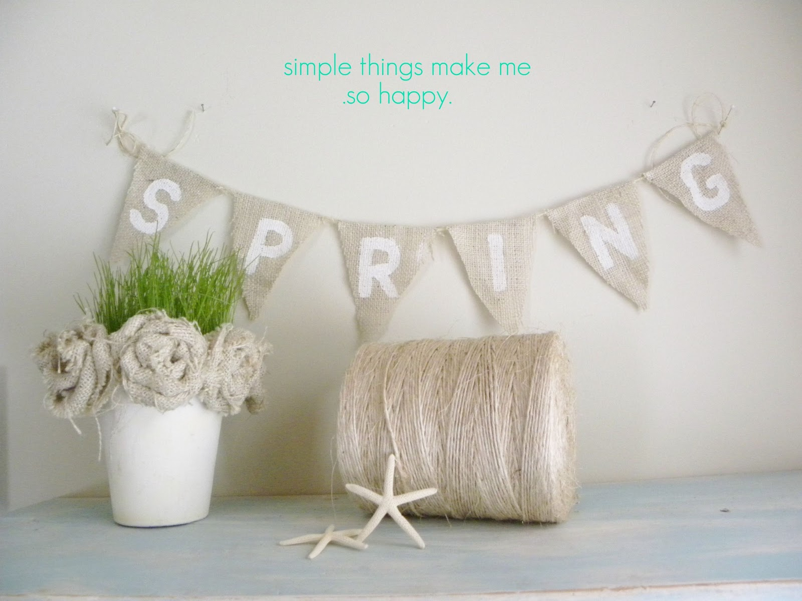 Simple daisy burlap craft project for Crafts made with burlap